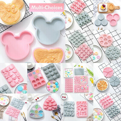 Silicone Baking Mould Cake Jelly Cookies Soap Mold Chocolate Tray Wax Ice Cube • 3.25£