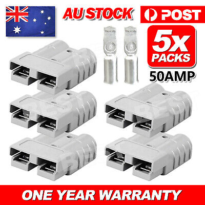 AU9.85 • Buy 5Pcs  Anderson Style Plug Connectors DC Power Tool 50 AMP 6AWG 12-24V