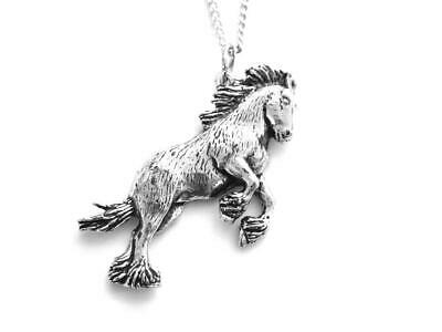 Shire Horse, Silver Pewter Pendant On 18  Steel Chain, Made In Uk. Gift Pouch. • 6.95£