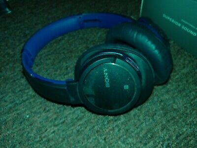 Sony Bluetooth Wireless Noise Cancelling Headphones Blue MDR-ZX770BN ANC SUPERB • 70£