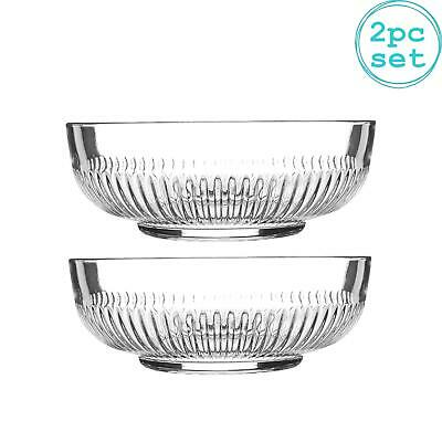 £9.99 • Buy Large Campana Glass Serving Bowls Set Of 2 Mixing Bowl 20cm Clear