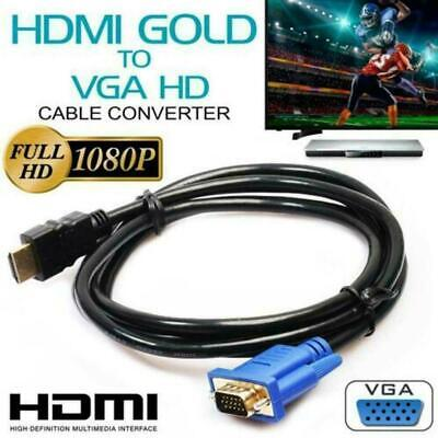 HDMI Cable Computer HDMI TO VGA 1080P HD Audio Adapter Good TV Digital Y6Q0 • 9.08£