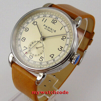 $ CDN99.71 • Buy Vintage 42mm Parnis Beige Dial 24 Hours GMT Date Automatic Movement Mens Watch