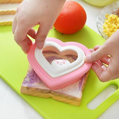Heart Shape Sandwich Bread Toast Cake Mold Mould Cutter DIY Kitchen Tool HOT • 2.99£