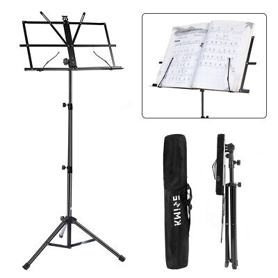Kmise Sheet Music Stand Holder Metal Tripod Base Foldable Adjustable +Carry Bag • 7.99£