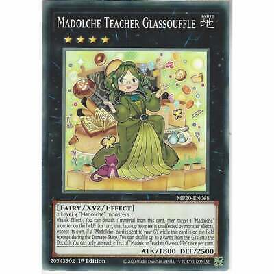 MP20-EN068 Madolche Teacher Glassouffle   1st Edition Common YuGiOh Trading Card • 0.99£