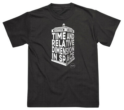 £13.99 • Buy Doctor Who 'Tardis 3D' (Black) T-Shirt - NEW & OFFICIAL!