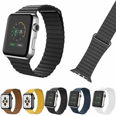 $ CDN13.88 • Buy Genuine Leather Magnetic Loop Band For Apple Watch Series 5 4 3 2 1 Iwatch Strap