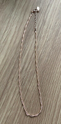 UNWORN Accessorize Rose Gold Plated Plaited Necklace • 6.50£
