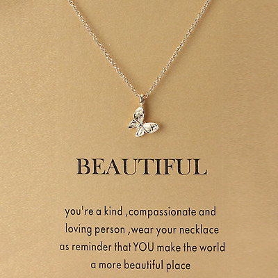 Guardian Free Spirit Good Luck Karma Necklace Lotus Flower Elephant Butterfly • 2.95£