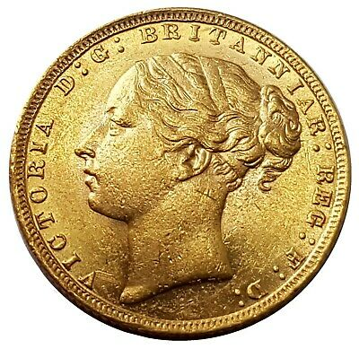 £645 • Buy 1872 Queen Victoria Young Head Gold Sovereign (london)