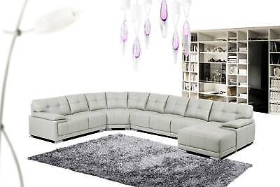 AU2999 • Buy Full Leather 7 Seater Lounge With Chaise