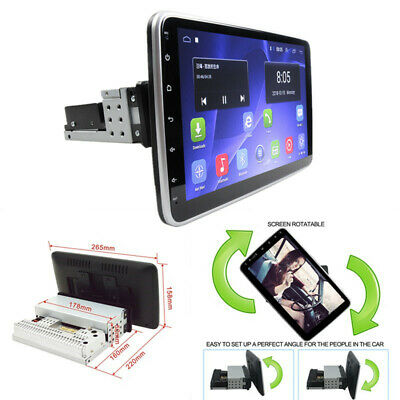 $198.25 • Buy 1 Din Rotation Android Car Radio Player GPS Navigation Multimedia 10.1in Display