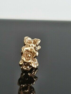 AU238 • Buy Pandora Row Of Flowers 14ct Gold Flower Spacer Charm 750378 Free Tracked Shippin