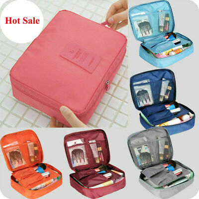 Travel Make Up Bags Cosmetic Makeup Organiser Toiletry Mesh Net Case Pouch Wash • 5.99£