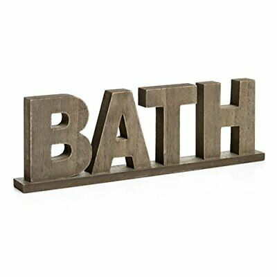 CVHOMEDEcO. Rustic Vintage Wooden Words Sign Free Standing Bath BathroomHome ... • 26.45£