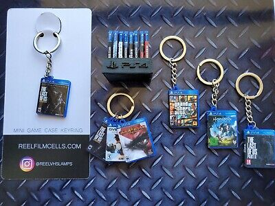 Miniature PS4 Game KeyRings - The Last Of Us & More! Buy 3 Get A FREE Mini Stand • 4.99£