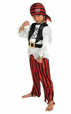 Pirate Boys Fancy Dress Childs World Book Day Halloween Childrens Costume Outfit • 12.99£