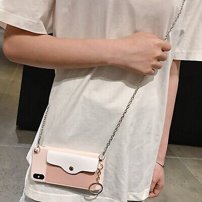 AU7.96 • Buy Hot Crossbody Chain Wallet Purse Women Girl Silicon Case Cover For Various Phone