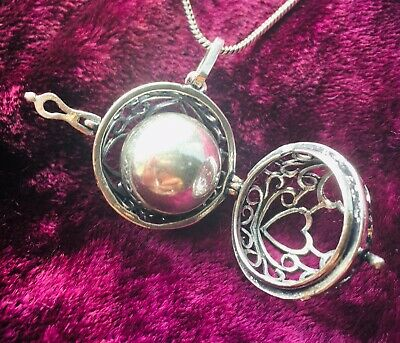 £11.99 • Buy Trio Of Hearts Harmony Bell -Pendant/Locket Necklace, Chime, Pregnancy, Gift