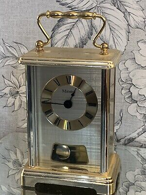Vintage Quartz Carriage Clock By Minster - Gold • 10£