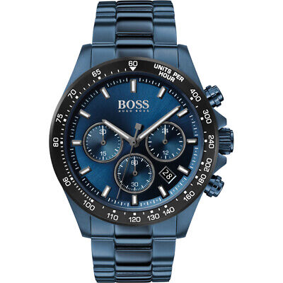 New Hugo Boss Hb1513758 Hero Blue Genuine Men's Watch Chronograph • 149£