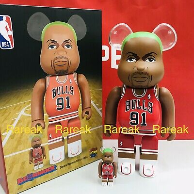 $268.99 • Buy Medicom Be@rbrick 2020 NBA Basketball Bulls Dennis Rodman 400% + 100% Bearbrick