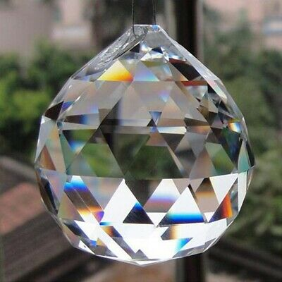 £4.58 • Buy 2/5/10/20pcs Hanging Clear Crystal Ball Prisms Faceted Pendant Sphere Decor 20mm