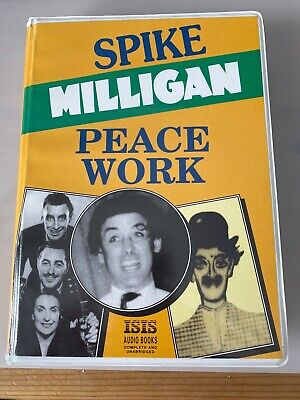 AUDIO BOOK: Spike Milligan - Peace Work - On 8 X Cassettes, • 7.99£