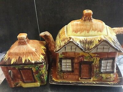 Price Brothers Pottery Ware - Teapot, Lidded Sugar Bowl And Jug (27) • 10£