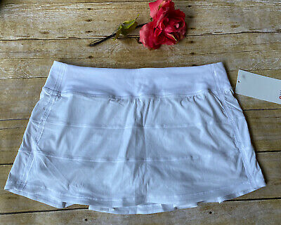 $ CDN107.18 • Buy NWT Lululemon Pace Revival White Skirt Size 10 Regular Tennis Golf Yoga