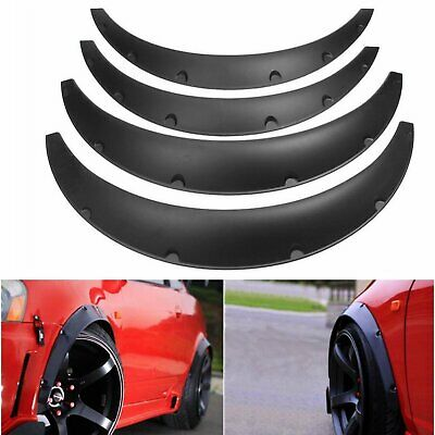 $25.73 • Buy 4PC Universal Black Flexible Durable Car Fender Flares Extra Wide Wheel Body Kit