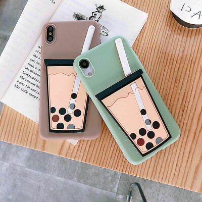 AU6.96 • Buy Hot Pearl Milk Tea Popular Creative Cute Silicone Case Cover For Various Phones