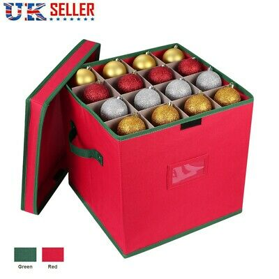 64 Bauble Storage Bag Christmas Tree Decoration Baubles Organiser 4 Layers UK • 11.75£
