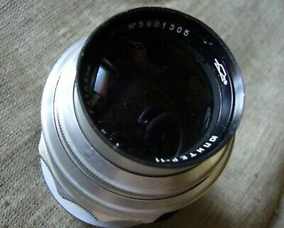 $94.79 • Buy Lens Jupiter-11( Silver ) 4/135 Red П USSR KMZ 1959 Adapted For Сanon EOS ( EF )