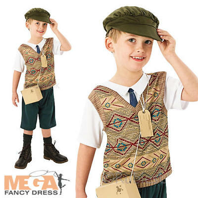 Wartime Boy Fancy Dress 1940s Childrens Kids Book Day Week 1930s Costume Outfit • 9.99£