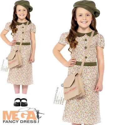 £7.99 • Buy Wartime Girl Fancy Dress 1940s 30s Historical Book Day Kids Childs Costume New