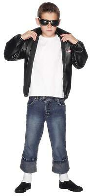 Smiffys 27491T Officially Licensed Grease T-Birds Jacket, Black, Teen Boy - Age • 26.60£