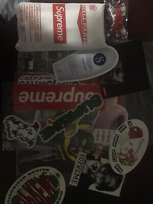 $ CDN86.67 • Buy SUPREME STICKER LOT With Poncho And Parachute Toy