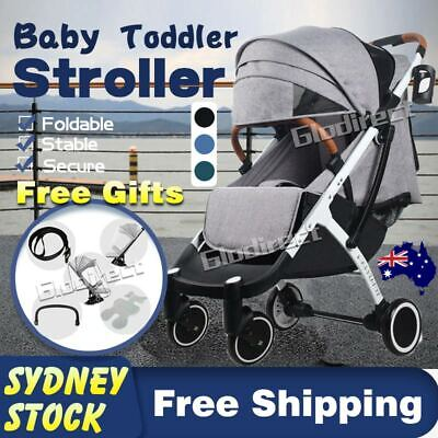 AU140.95 • Buy Baby Prams Stroller Luxury Compact Travel Lightweight Foldable Carry-on Plane AU