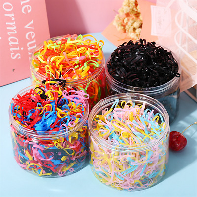 $3.49 • Buy 1000x Mini Clear Elastic Hair Rubber Bands Braiding Small Braids Plaits Ropes