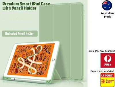 AU24.29 • Buy 2020 IPad 12.9 11 10.5 10.2 Protector Case Stand Cover With Apple Pencil Holder