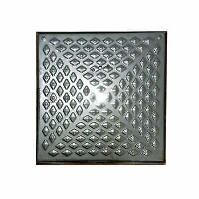 Galvanised Pressed Steel Manhole Cover With Frame 450mm X 450mm 10 Ton Driveway • 40£