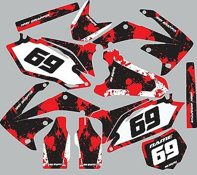 $89.99 • Buy Graphic Kit For 2002-2004 Honda CRF450 CRF 450 Number Plates Fender Shroud Decal