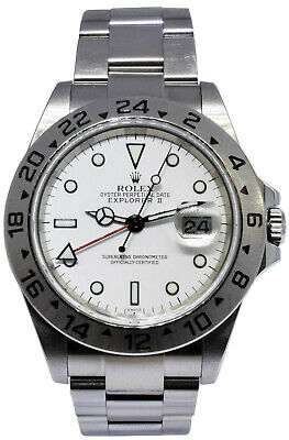 $ CDN10855.35 • Buy Rolex Explorer II Steel White Dial Mens 40mm Automatic Watch F 16570 Unpolished