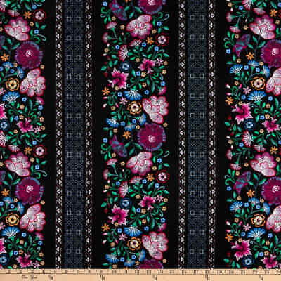 Embroidered Elegance Fabric Fat Quarter Cotton Craft Quilting Flowers • 5.48£