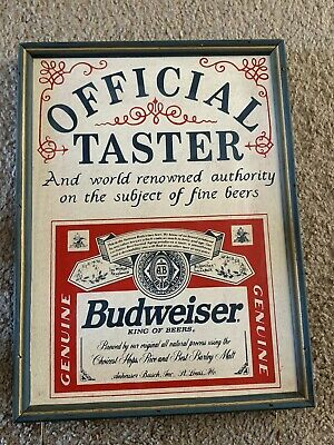 $ CDN65.91 • Buy Vintage Rare Budweiser Official Taster Wooden Sign 12 By 9