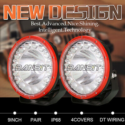 AU145.88 • Buy NEW OSRAM 9 Inch LED Driving Lights Spot Flood SUV Offroad Truck Work Round RED