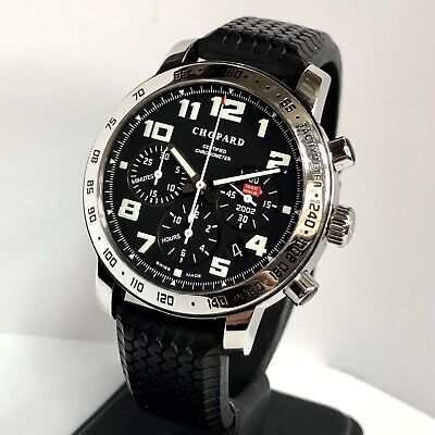 Gents Chopard Mille Miglia Chronograph Steel Black Dial 40mm Size Auto With Box! • 2,675£