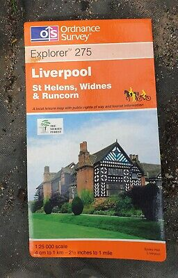 £7.49 • Buy OS Explorer Map 275 Liverpool, St Helens Widnes And Runcorn By Ordnance Surv